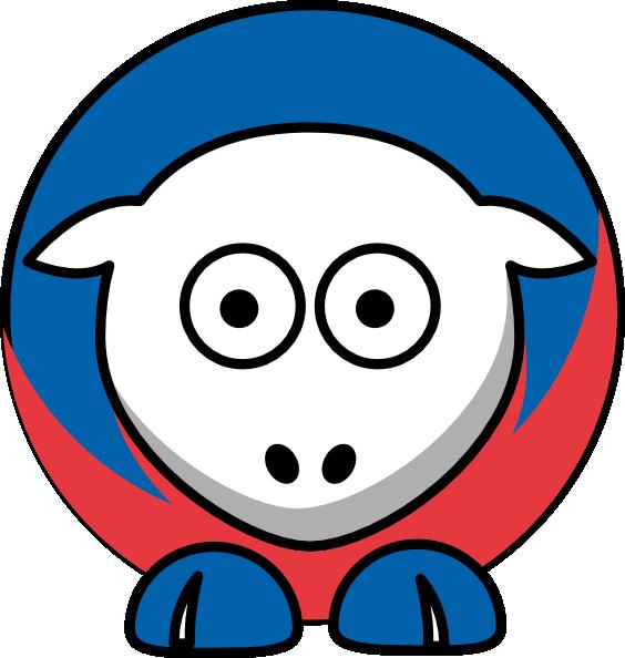 Sheep New York Rangers Team Colors Clip Art at Clker.com.