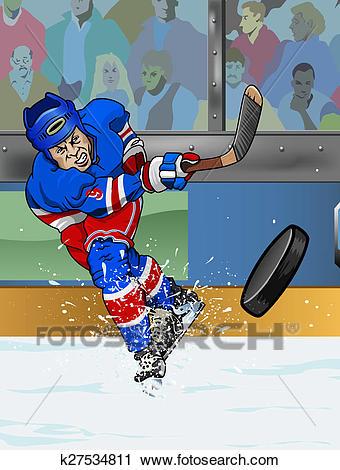New York Rangers ice hockey player Clip Art.