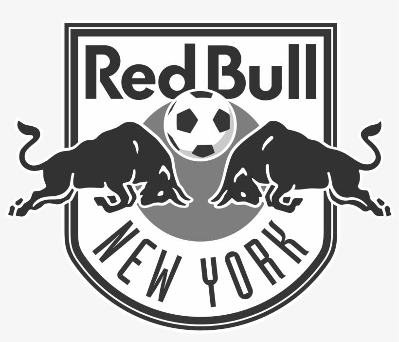 New York Red Bulls Logo Black And White.