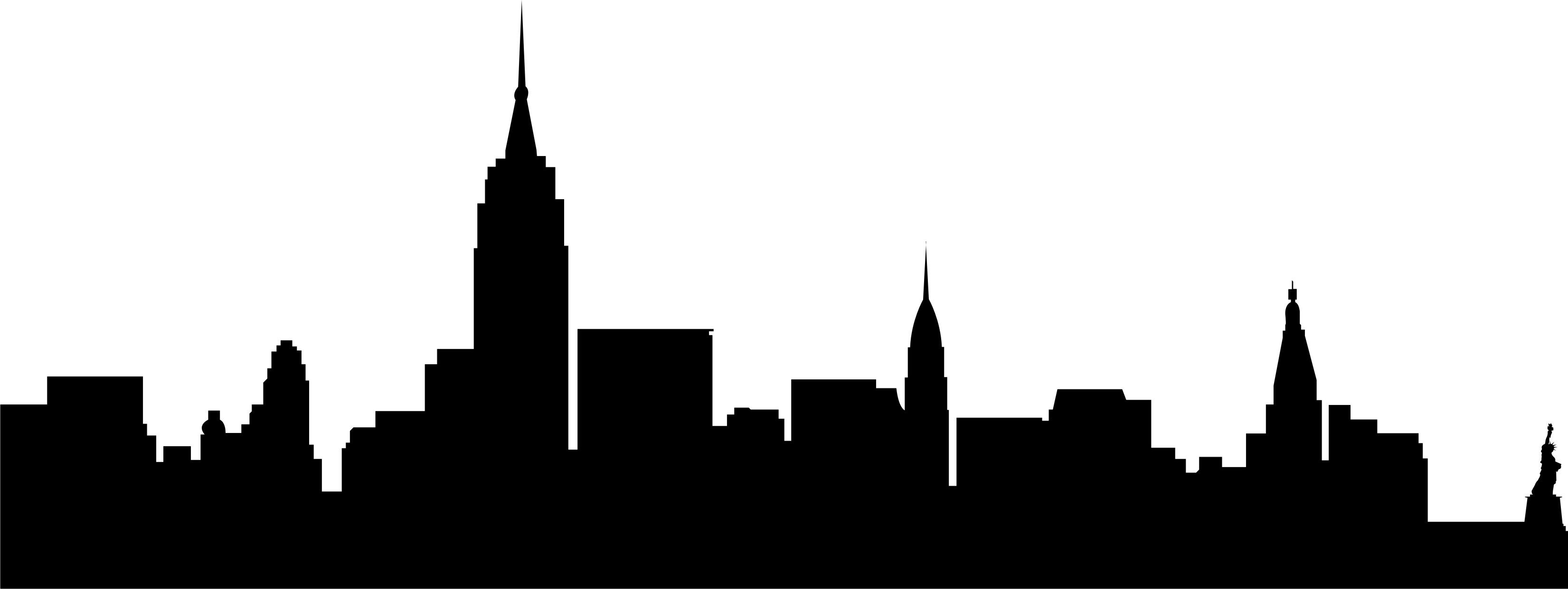 3302x1242 Cityscape Clipart Nyc Skyline in 2019.