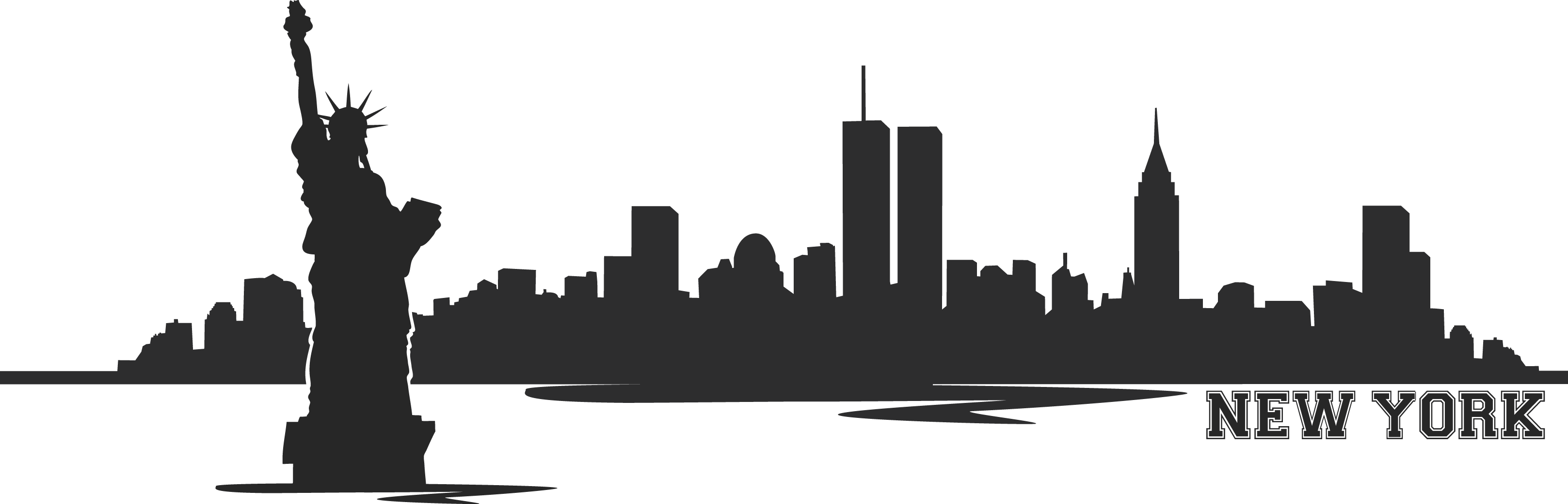 Similiar Twin Towers Manhattan Skyline Graphic Keywords.