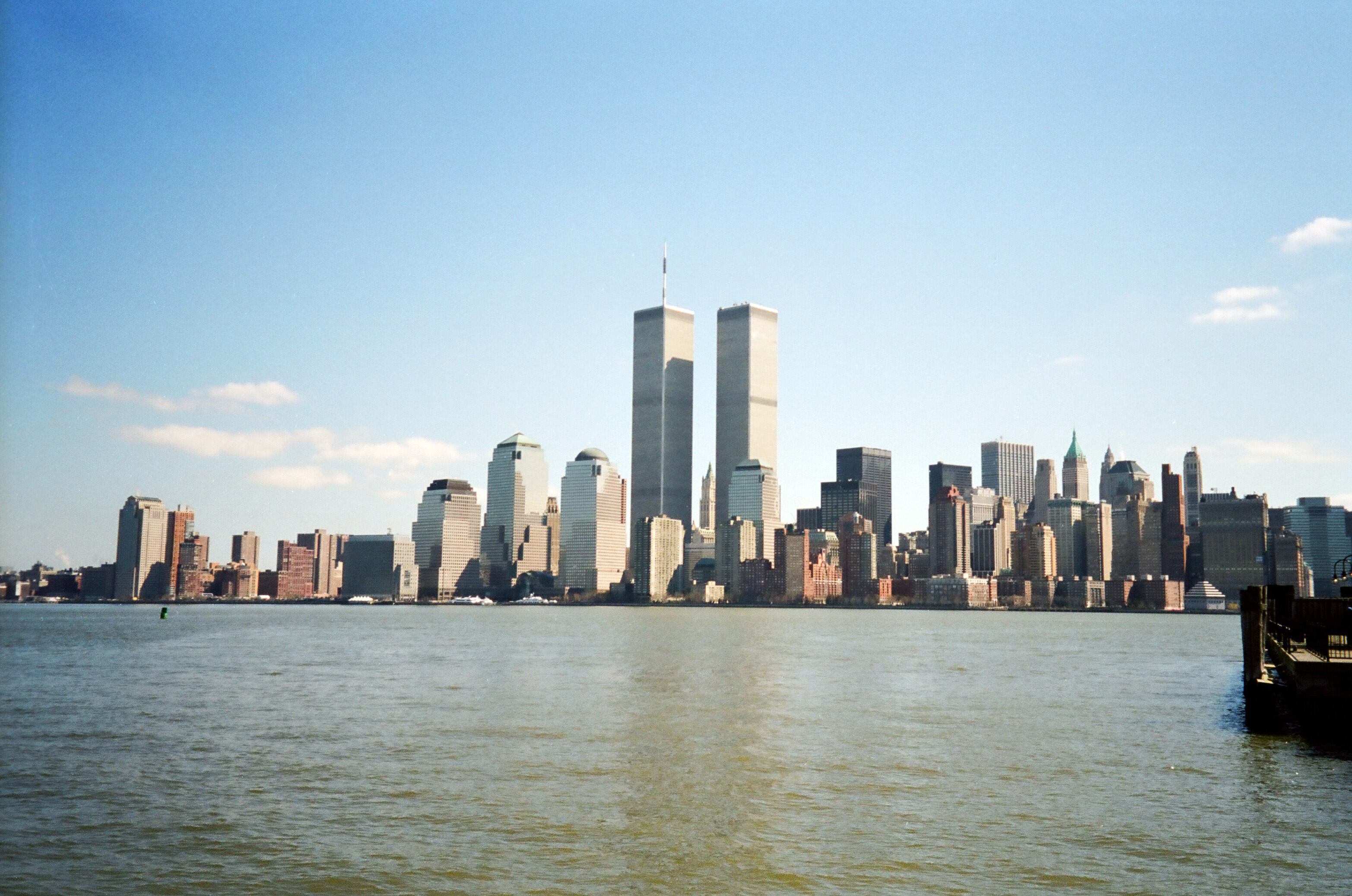 Nyc Skyline With Twin Towers
