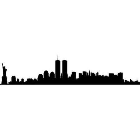 New York Skyline Twin Towers Clipart.