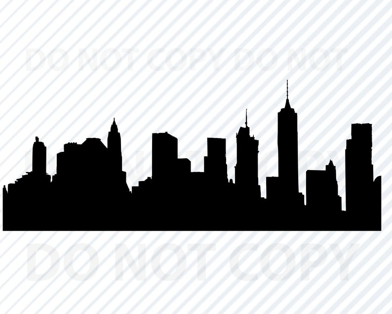 Brooklyn New York Skyline SVG Files For Cricut.