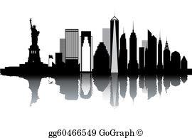New York Skyline Clip Art.
