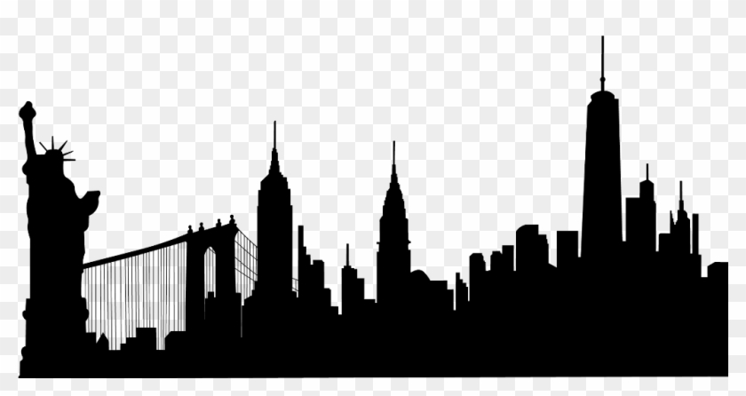 newyork #statueofliberty #buildings #silhouette.
