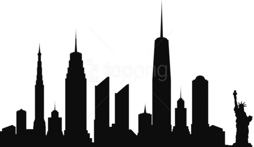 Free Png New York City Skyline Silhouette Png Png.