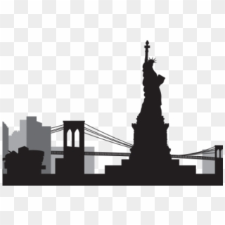 New York Skyline Silhouette PNG Images, Free Transparent.