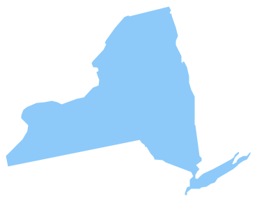 New York Map Clipart Blue.