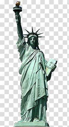 S, Statue of Liberty, New York art transparent background.