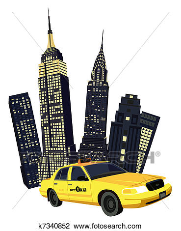New York City Taxi Clipart.
