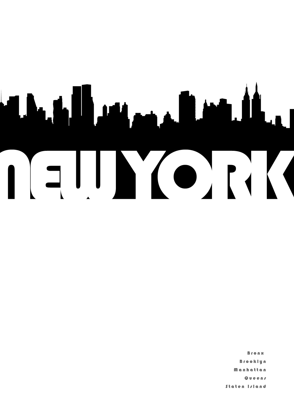 New York Skyline Outline.