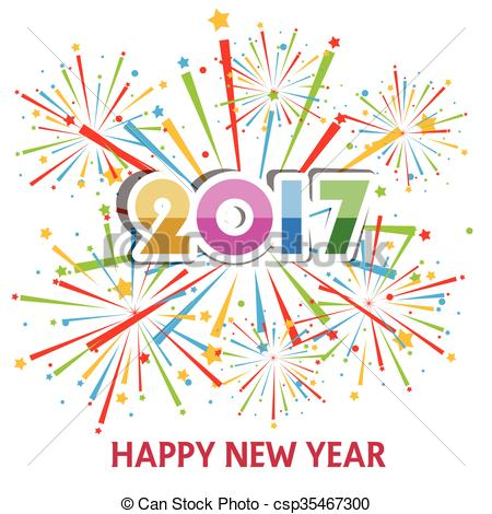 2017 new year clipart.