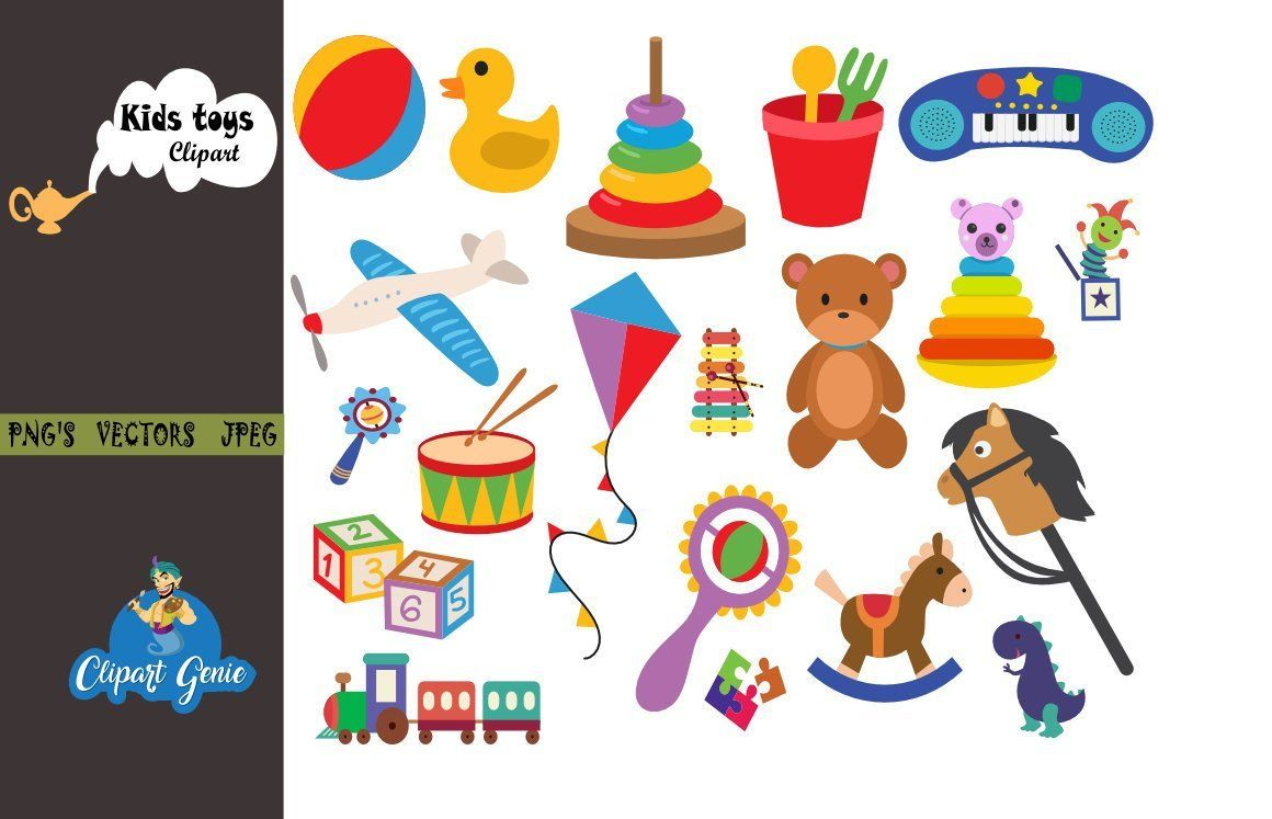 Baby Toys Clipart, Baby Clip art, Toy cars, kids toys.