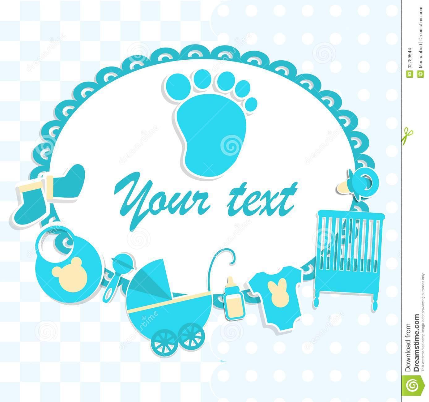 Newborn Baby Boy Clip Art.