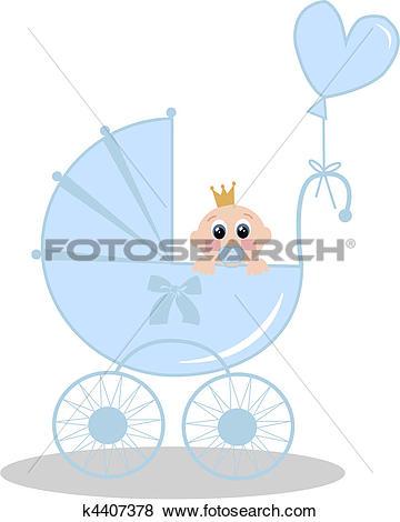 Clip Art of newborn baby boy k4407378.