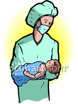 Doctor Holding A Newborn Baby.