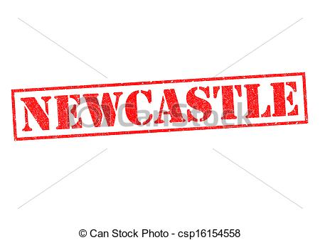 Stock Illustrations of NEWCASTLE Rubber Stamp over a white.