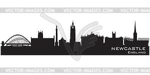 England skyline. Detailed silhouette.