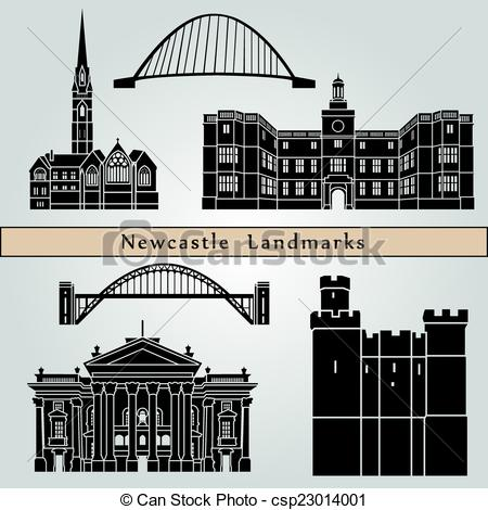 Vector Clipart of Newcastle Landmarks.