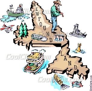 Newfoundland map Vector Clip art.