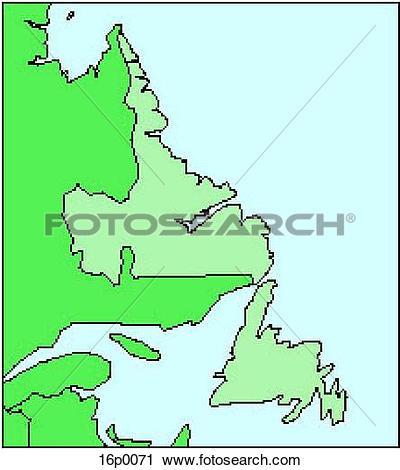 Clipart of Newfoundland 16p0071.