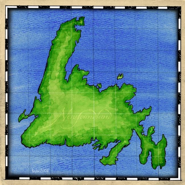 Newfoundland map clipart.