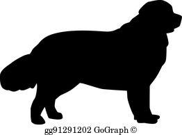 Newfoundland Dog Clip Art.