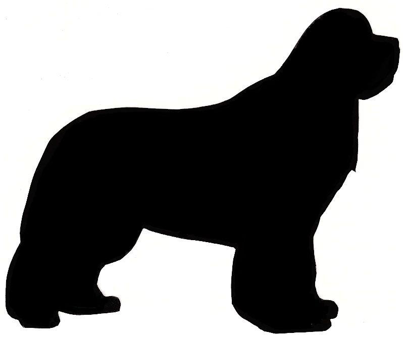 silhouettes of dog heads newfoundland.