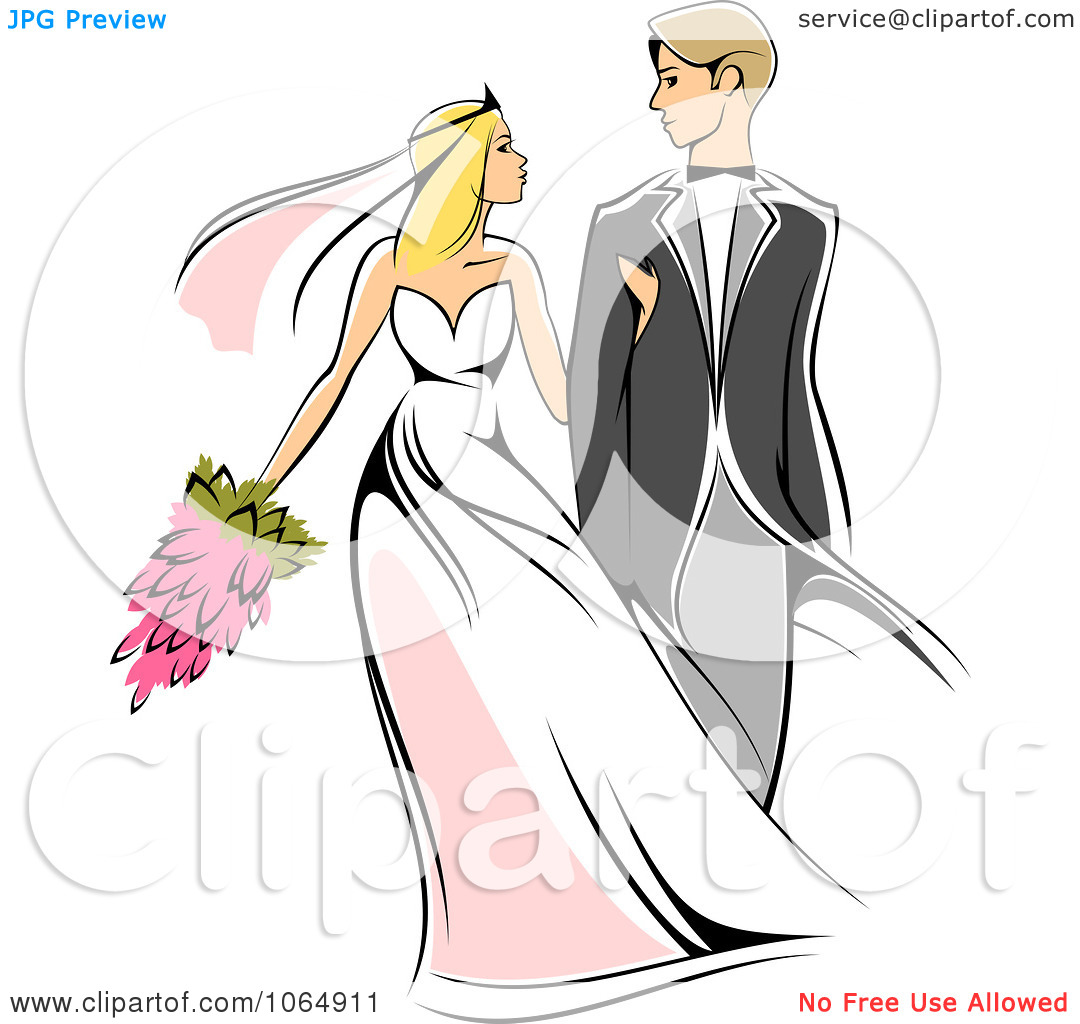 Clipart Newlywed Couple 1.