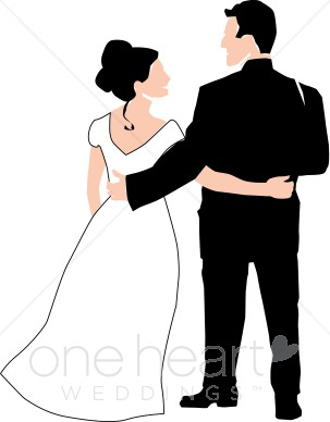 Newlyweds Clipart.