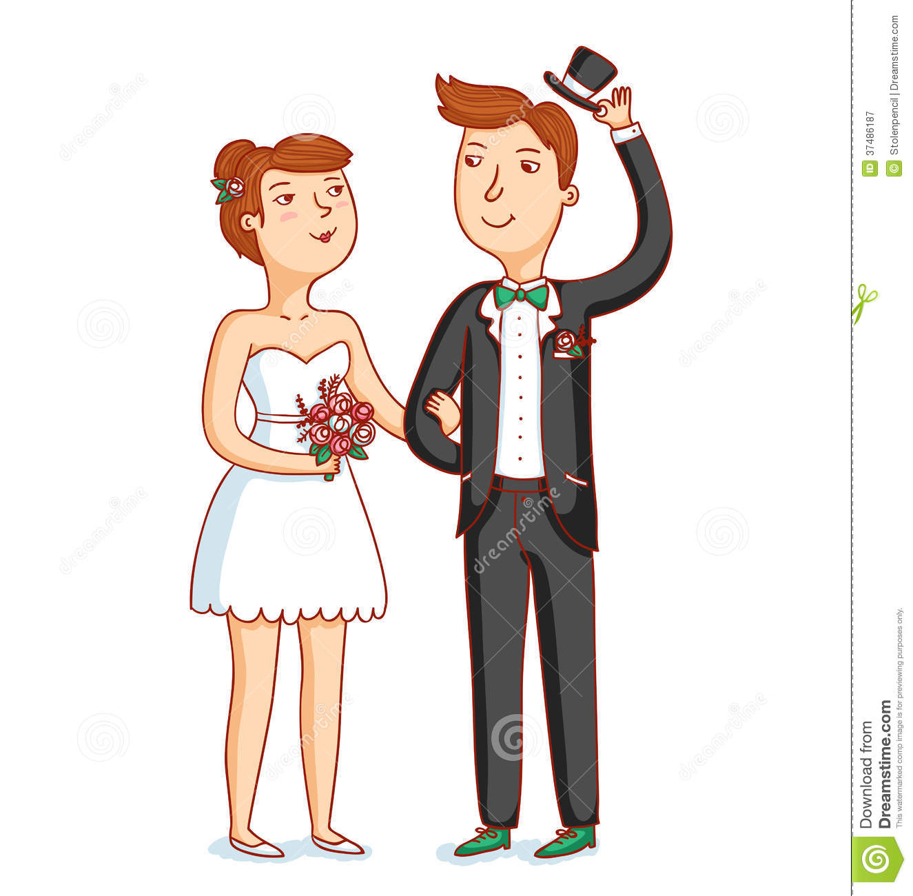 The newlyweds clipart #11