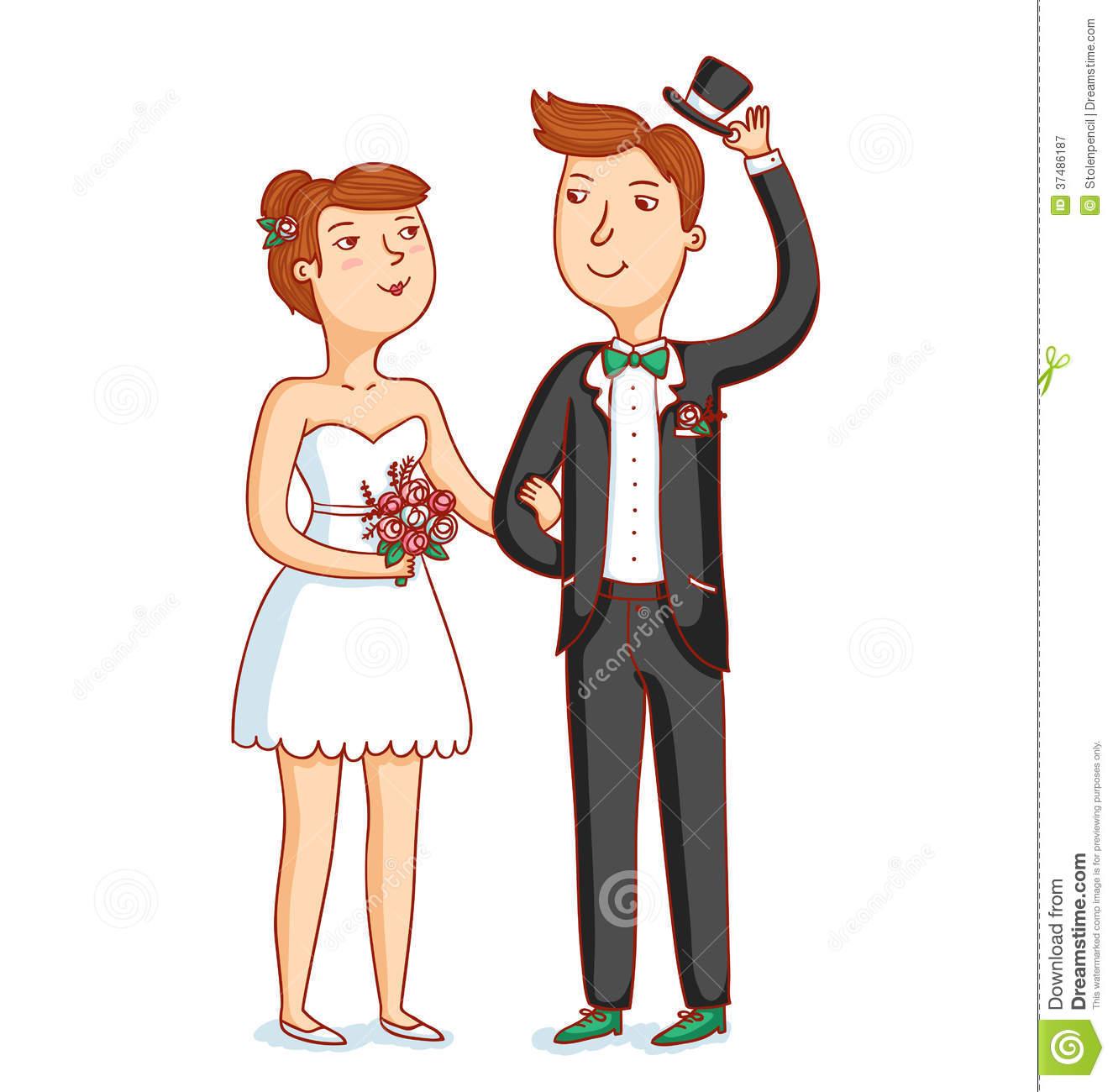 Newlyweds Royalty Free Stock Photography.
