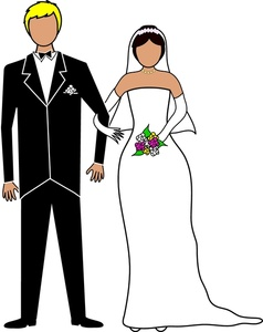 Newlyweds clipart.