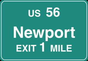 Freeway Newport Exit Sign Clip Art at Clker.com.