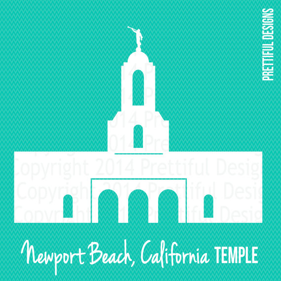 Newport Beach California LDS Mormon Clip Art png eps svg by.