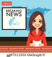 Newscaster Clip Art.