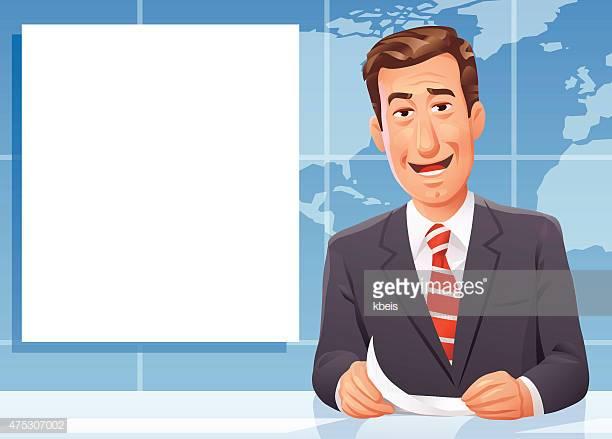 60 Top Newscaster Stock Illustrations, Clip art, Cartoons.