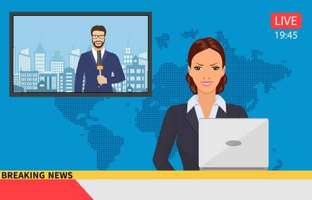 8,308 Tv Reporter Stock Vector Illustration And Royalty Free.