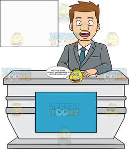 Desk clipart news desk, Desk news desk Transparent FREE for.