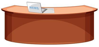 News Desk Free Vector Art.