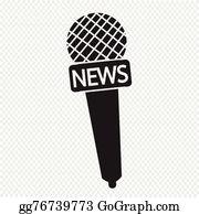 News Microphone Clip Art.