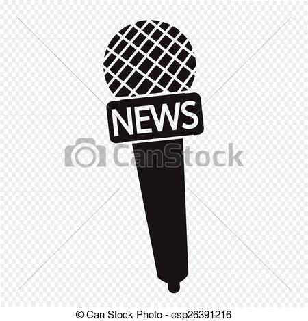 News Microphone Clipart.