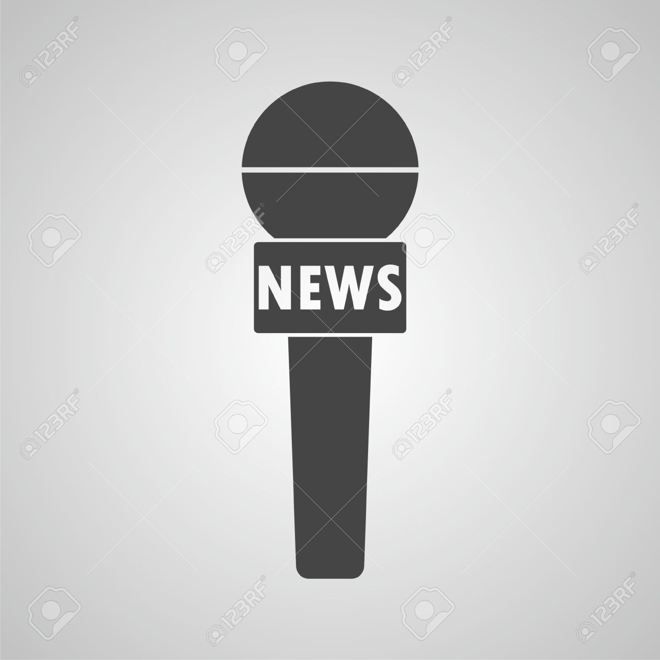 News reporter microphone icon.