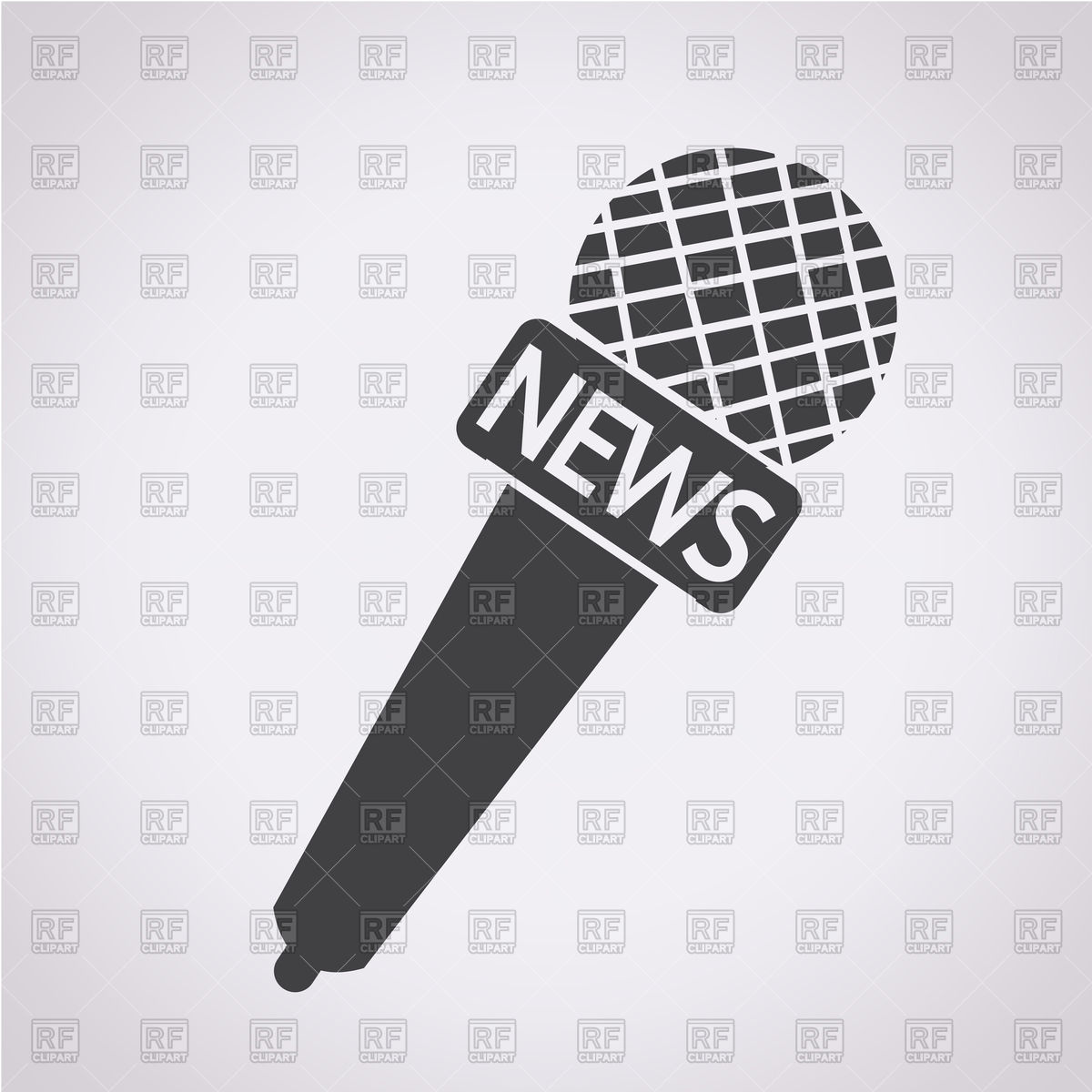 News microphone icon Stock Vector Image.