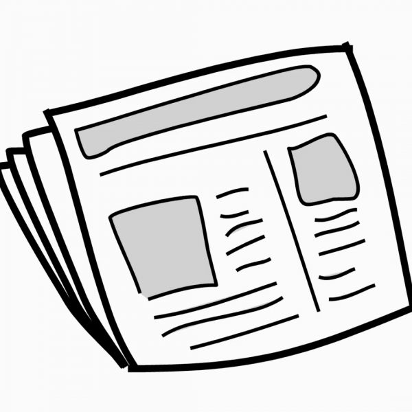 News Paper Line Drawing Illustration Animation With.