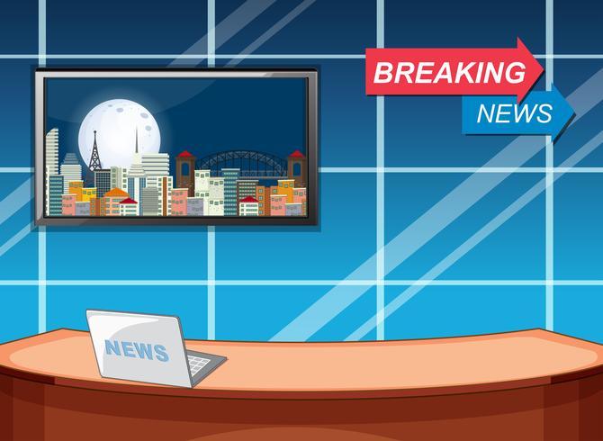 Breaking news studio template.