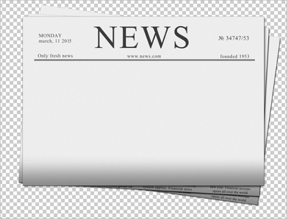 Newspaper Template Clipart.