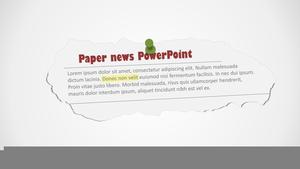 Newspaper Clipart Template.