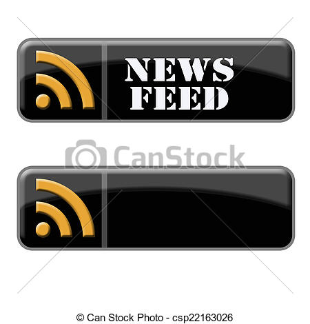 Stock Photo of News feed buttons.